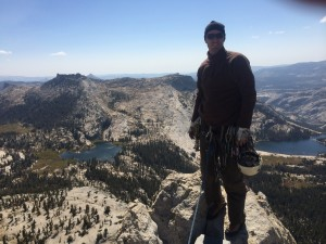 The Author on the Summit of Eichhorn's Pinnacle, Yosemite National Park