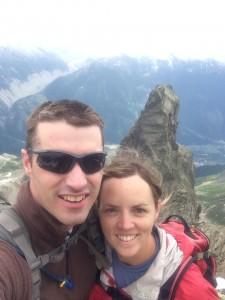 Climbing in Chamonix France
