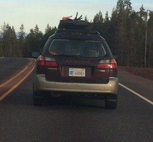 A car I followed down the road on this trip. See if you think it's as funny as I do.