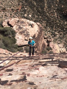 """My 10 yo daughter Whitney rappelling off a climb at Red Rock- She says $500K in debt is """"Crazy! Did he go to Harvard or something?"""""""