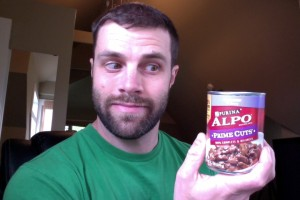 Choosing between your 401(k) and Alpo? Be sure to taste it first like I did. Geoff Hubbell, MD, and his infamous can of Alpo