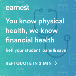 Earnest student loan page