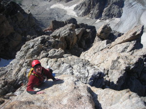 Speaking of Crazy- This is the Golden Stair pitch of the Grand Teton