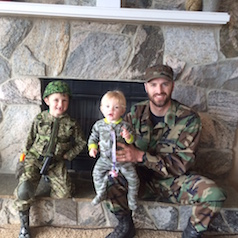 """I'm often asked what would get me back in uniform. Well, my 7 year old's """"Army Guy"""" themed birthday party did it. Not quite worth shaving though."""
