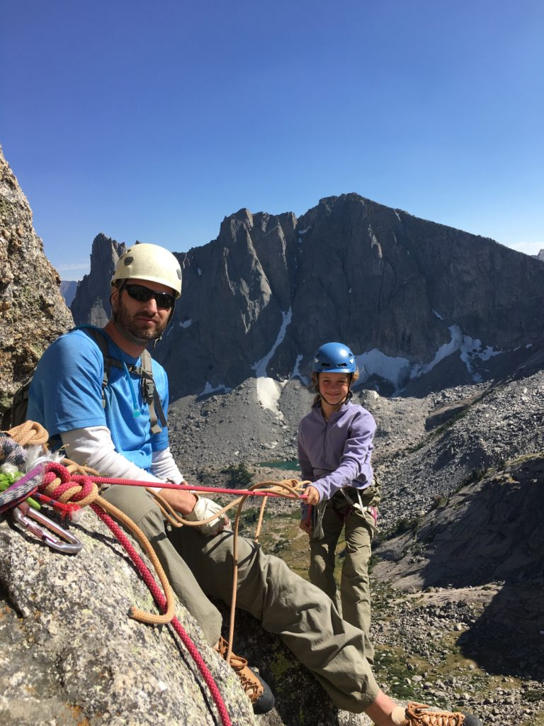 My nine year old descending Pingora, Wind River Mountains