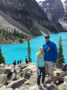 Moraine Lake, Banff. Photo not retouched, the water really is that color due to glacial sediment