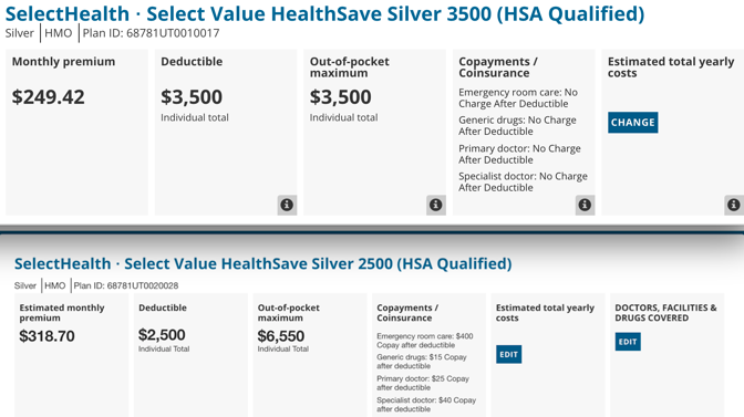 health insurance with no deductible for individuals