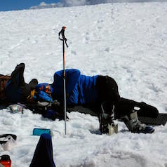 Nap at Camp Muir