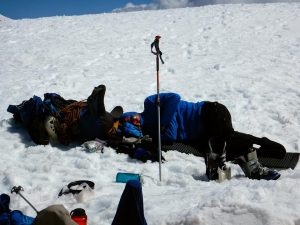 Napping at Camp Muir