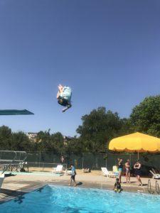 High dive flips