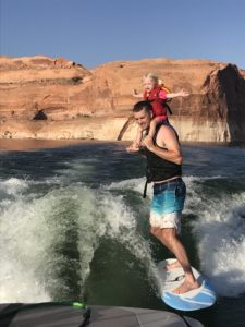 Wakesurfing with kids