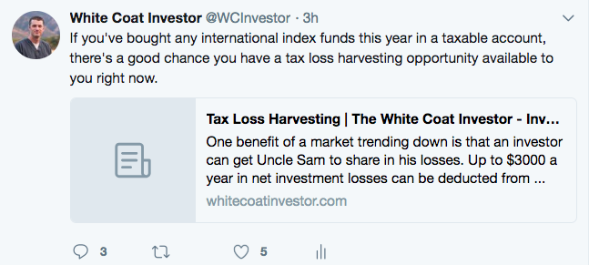 Tax Loss Harvesting at Vanguard - A Primer - The White Coat Investor