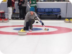 woman curling