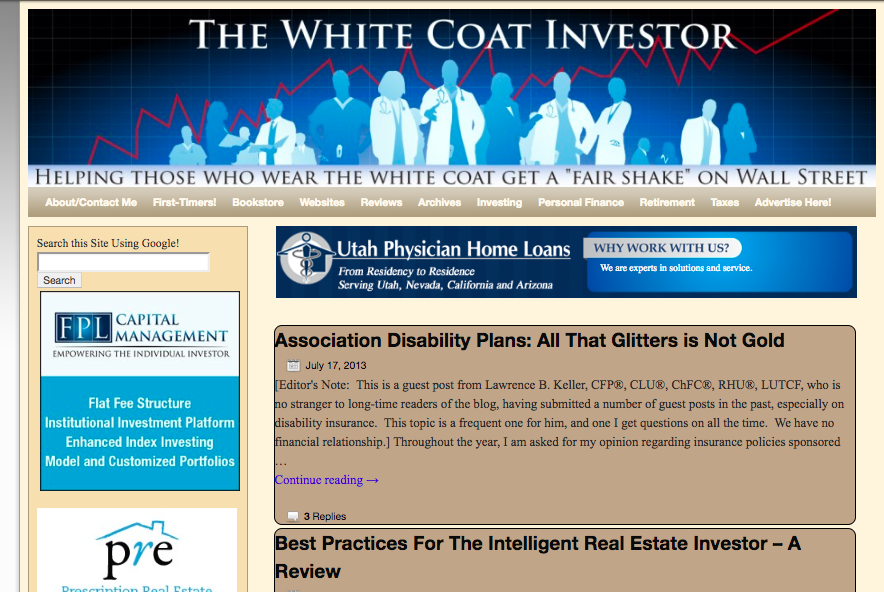 State of the Blog 2019 - The White Coat Investor - Investing