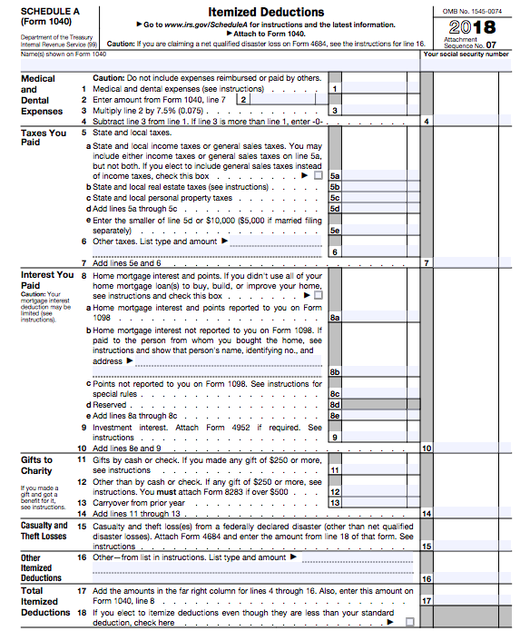 form 1040 instructions 2019  The New 17 Tax Form! - The White Coat Investor - Investing ...