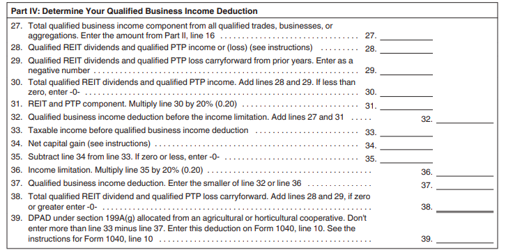 Pub 535 QBI Deduction REIT