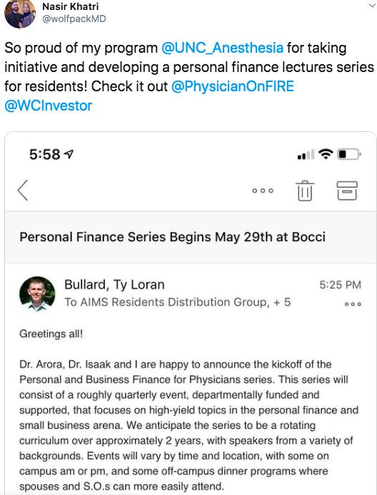 physician financial educator