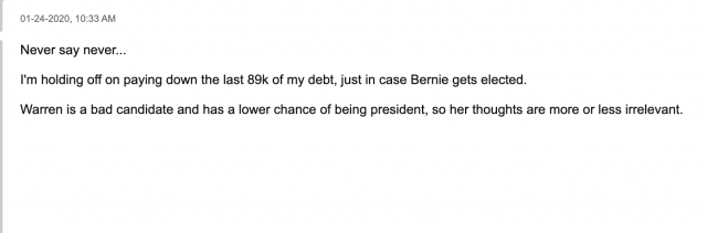 Bernie Sanders student debt forgiveness