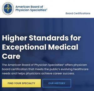 american board of physician specialties website