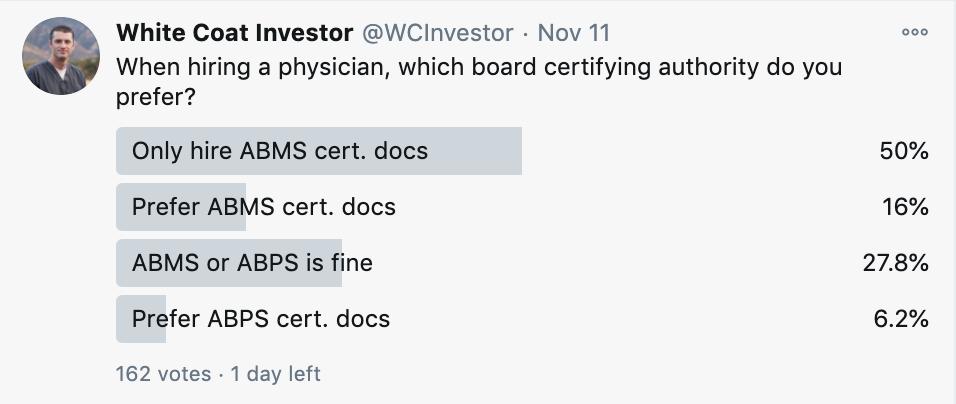 board certification twitter poll