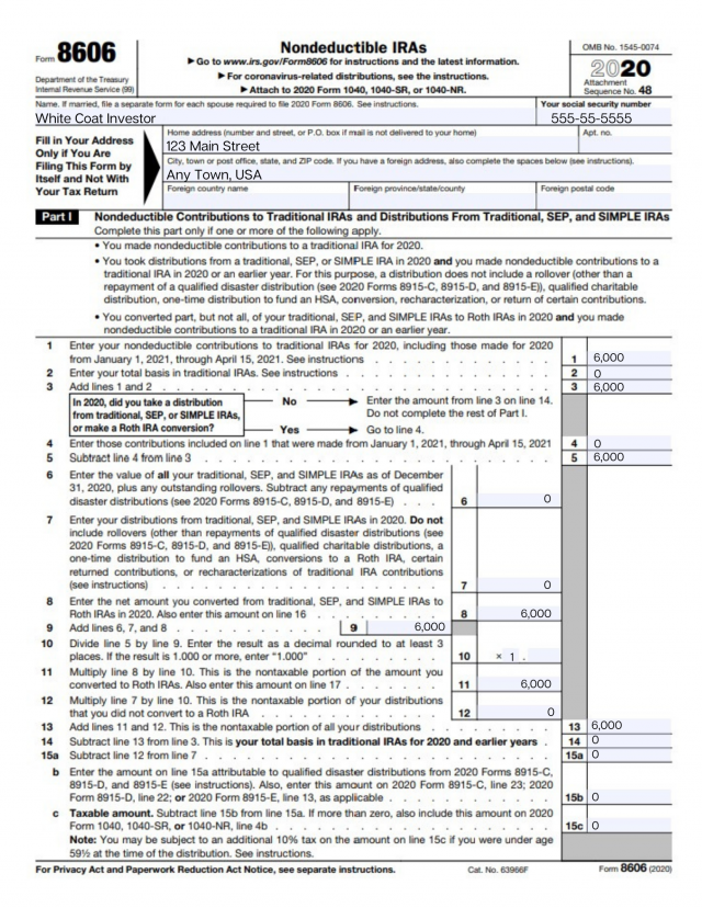 how to fill out form 8606