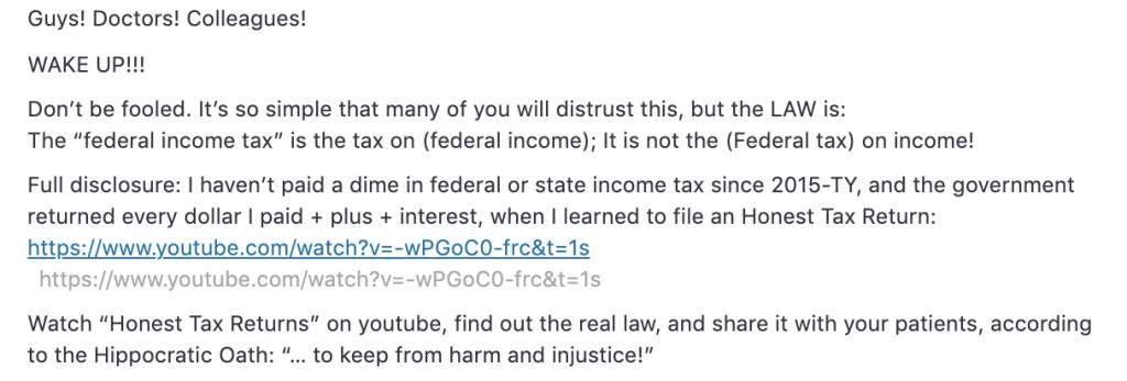 Frivolous Tax Argument