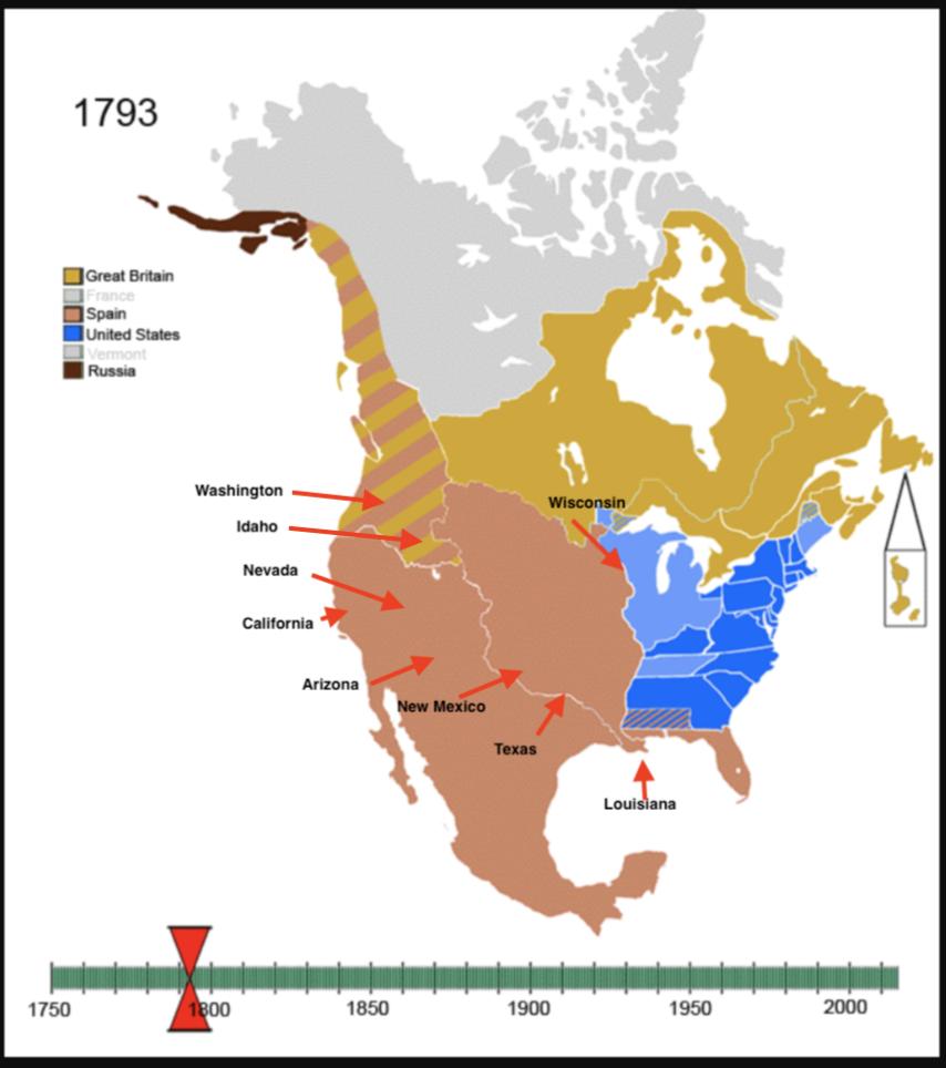 North America in 1793