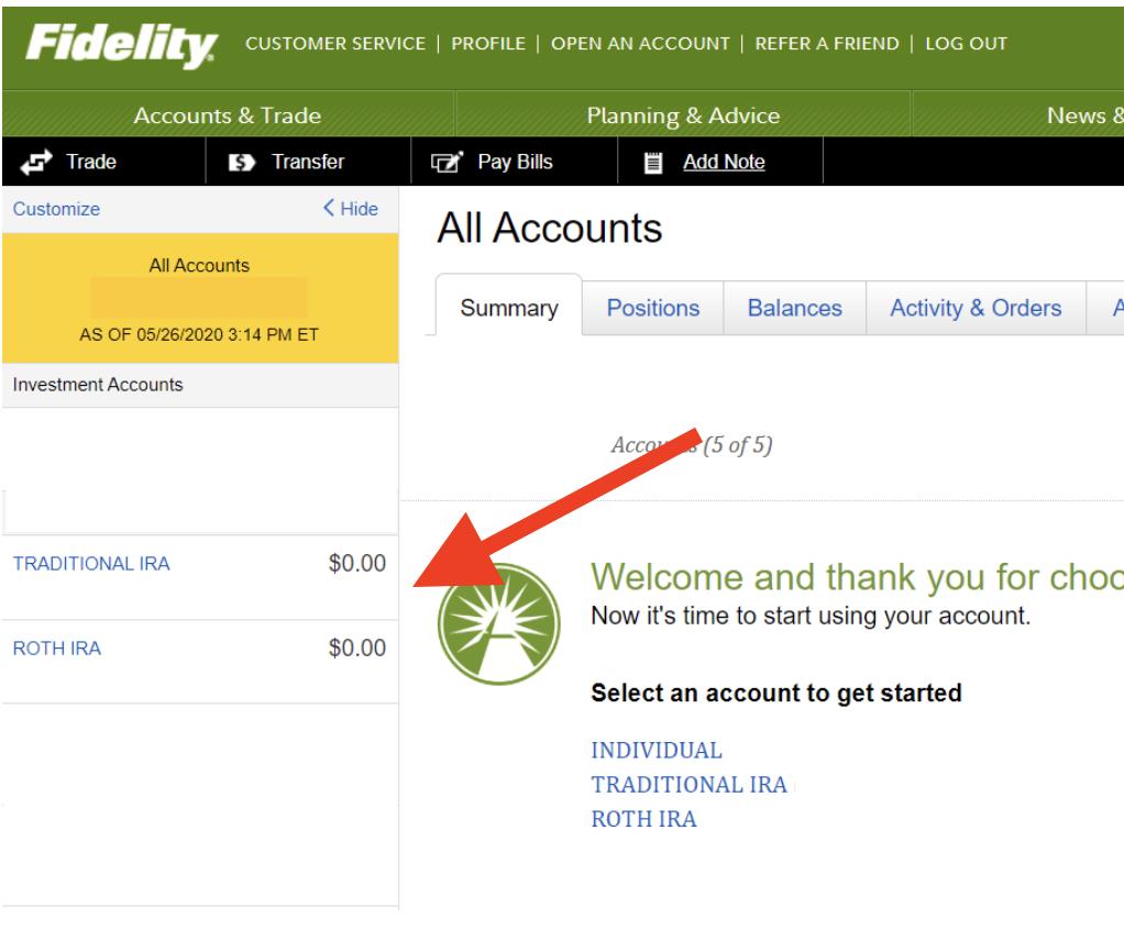 Fidelity Accounts